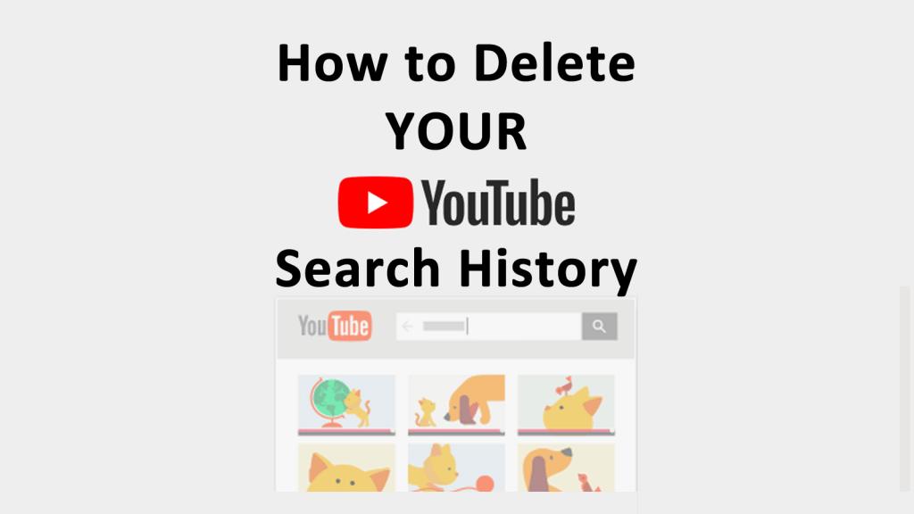 how delete youtube history