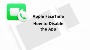 Apple FaceTime Disable Facetime App
