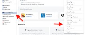 Facebook Settings Apps