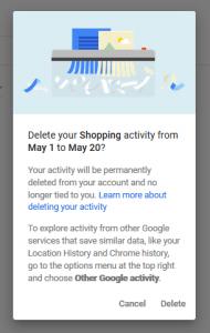 Google Shopping Delete