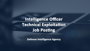 Intelligence Officer