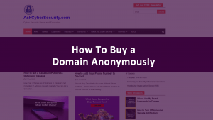 Buy Domain Anonymously