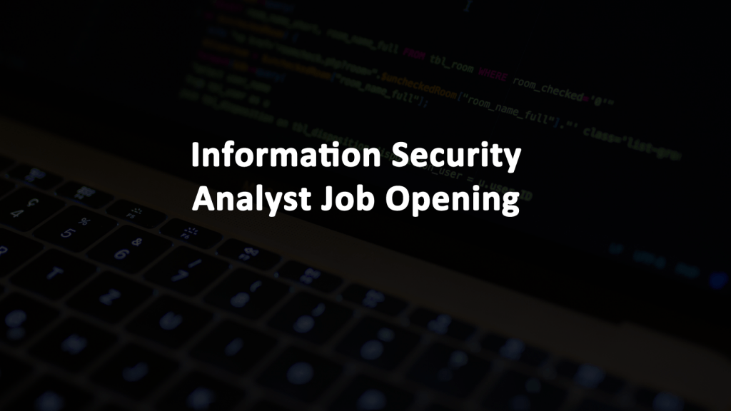 Information Security Analyst Job