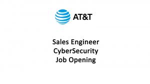 Sales Engineer CyberSecurity-ATT
