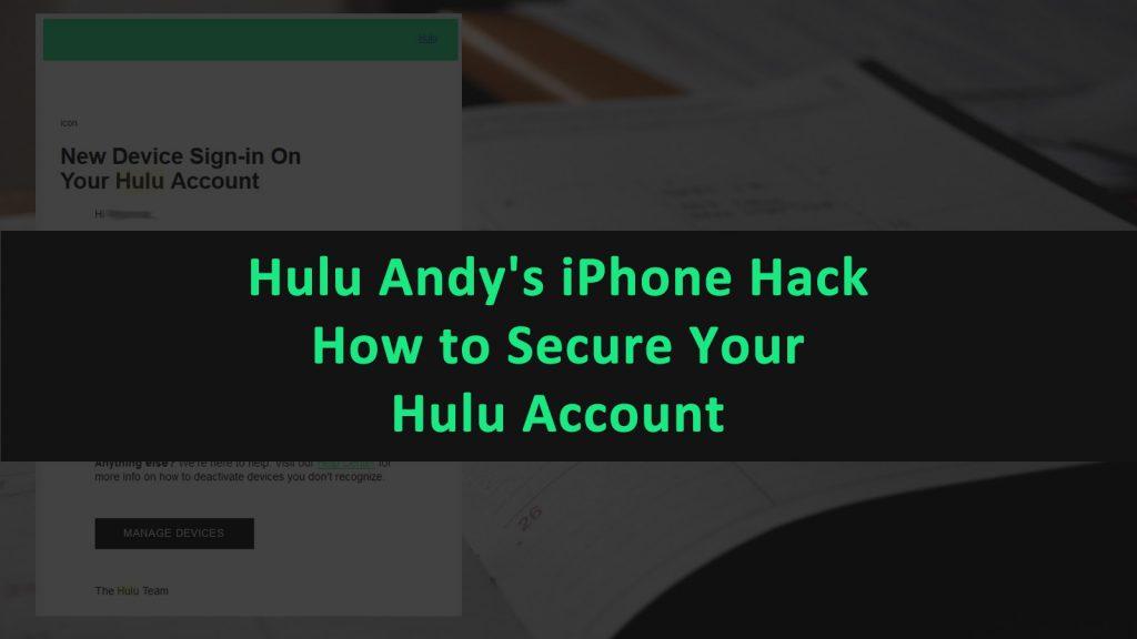 Hulu Andys iPhone