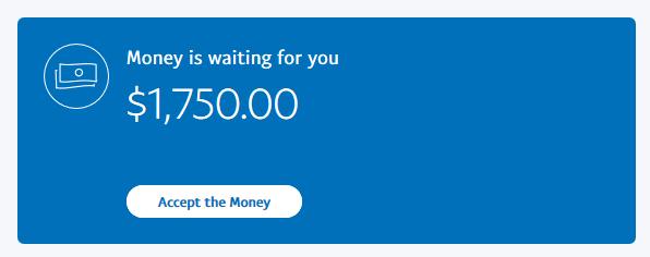 PayPal Account Screenshot