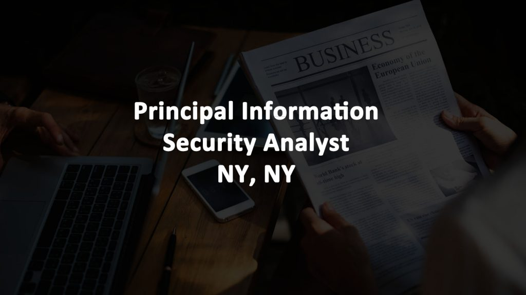 Principal Cybersecurity Analyst Job