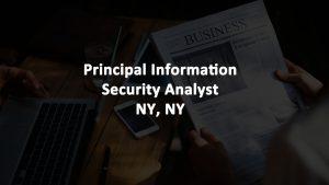 Principal Cybersecurity Analyst Job