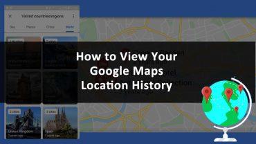 Google Maps Location History