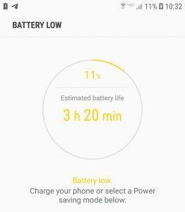 Low Battery Screenshot